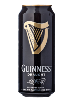 Transparent beer guinness. Draught total wine more