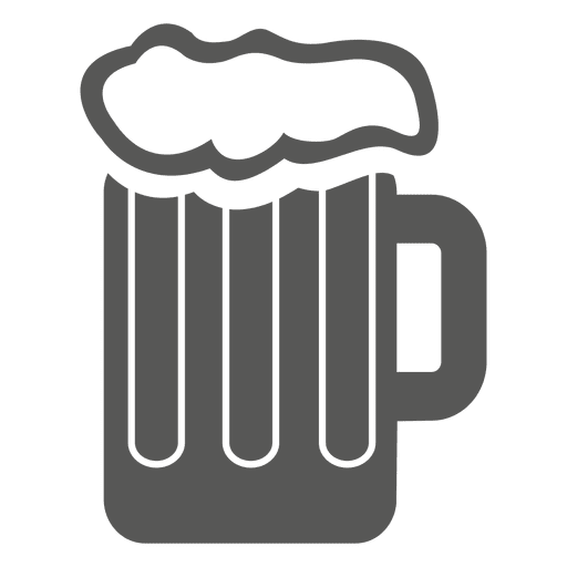 Transparent beer illustration. Cup of drink icon