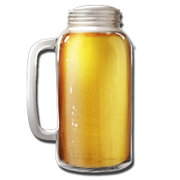 Transparent beer jar. Official ark survival evolved