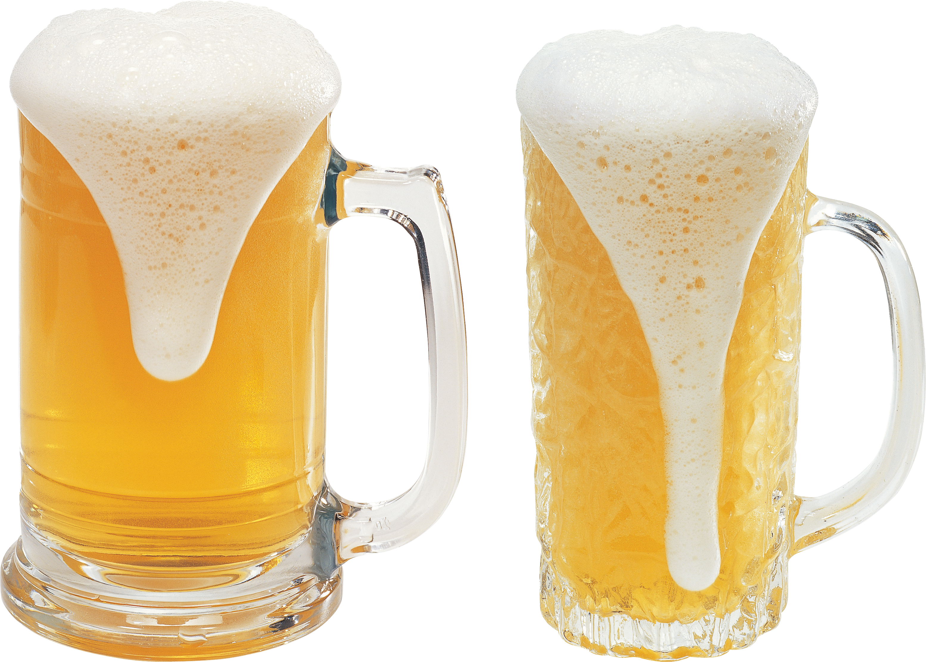 Two glasses of three. Transparent beer jug clipart