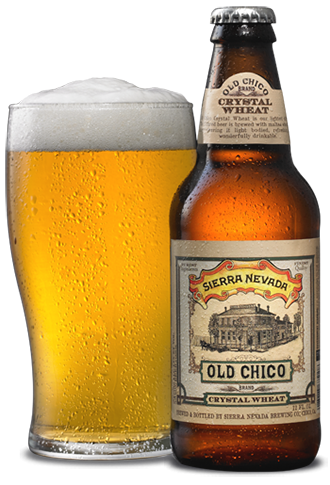Transparent beer old. Chico crystal wheat is