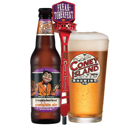 Transparent beer row. Coney island brewery collaborates