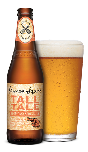 Transparent beer tall. Tale tropicana spring ale