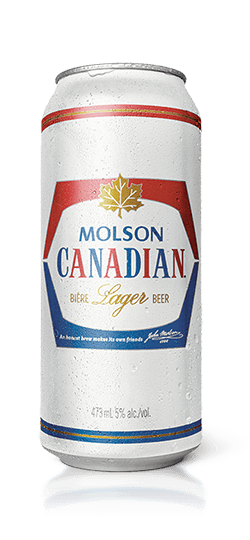 Transparent beer tall. Molson canadian premium lager