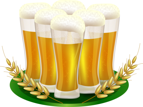 Transparent beer two. Glass set isolated stock