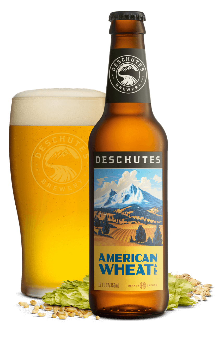 Vector wheat beer. Deschutes american the northwest