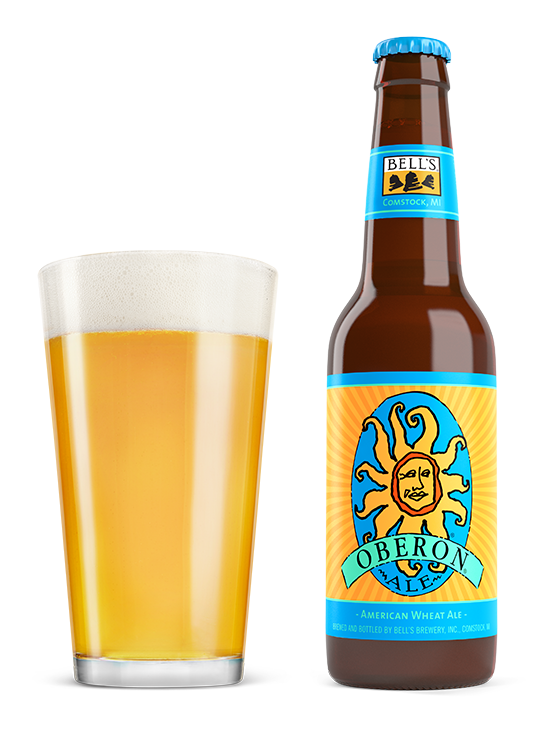 Vector wheat beer. Oberon ale bell s
