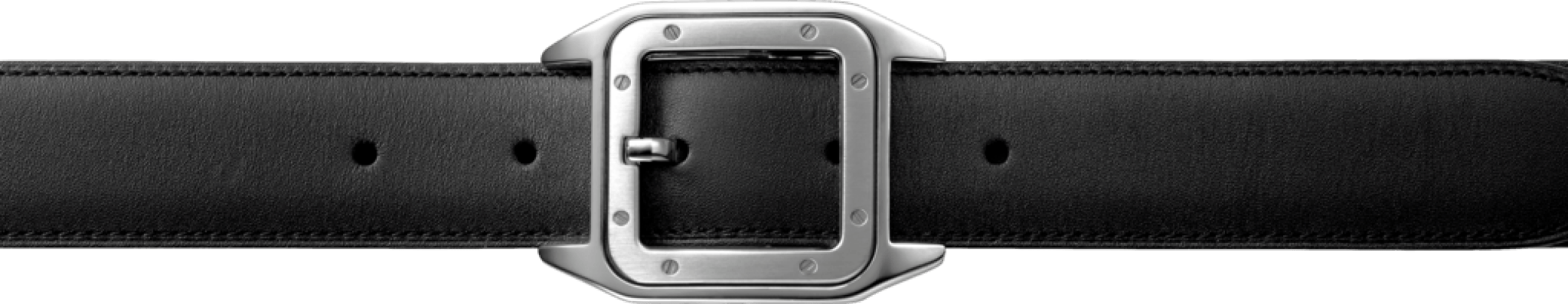 Transparent belt. Front leather black png