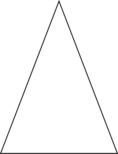 Transparent bg triangle. Classification by side lengths