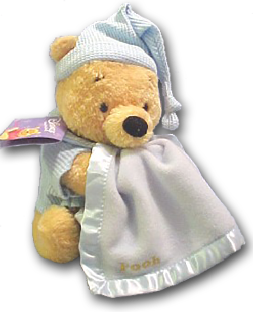 Transparent blanket plush. Winnie the pooh with