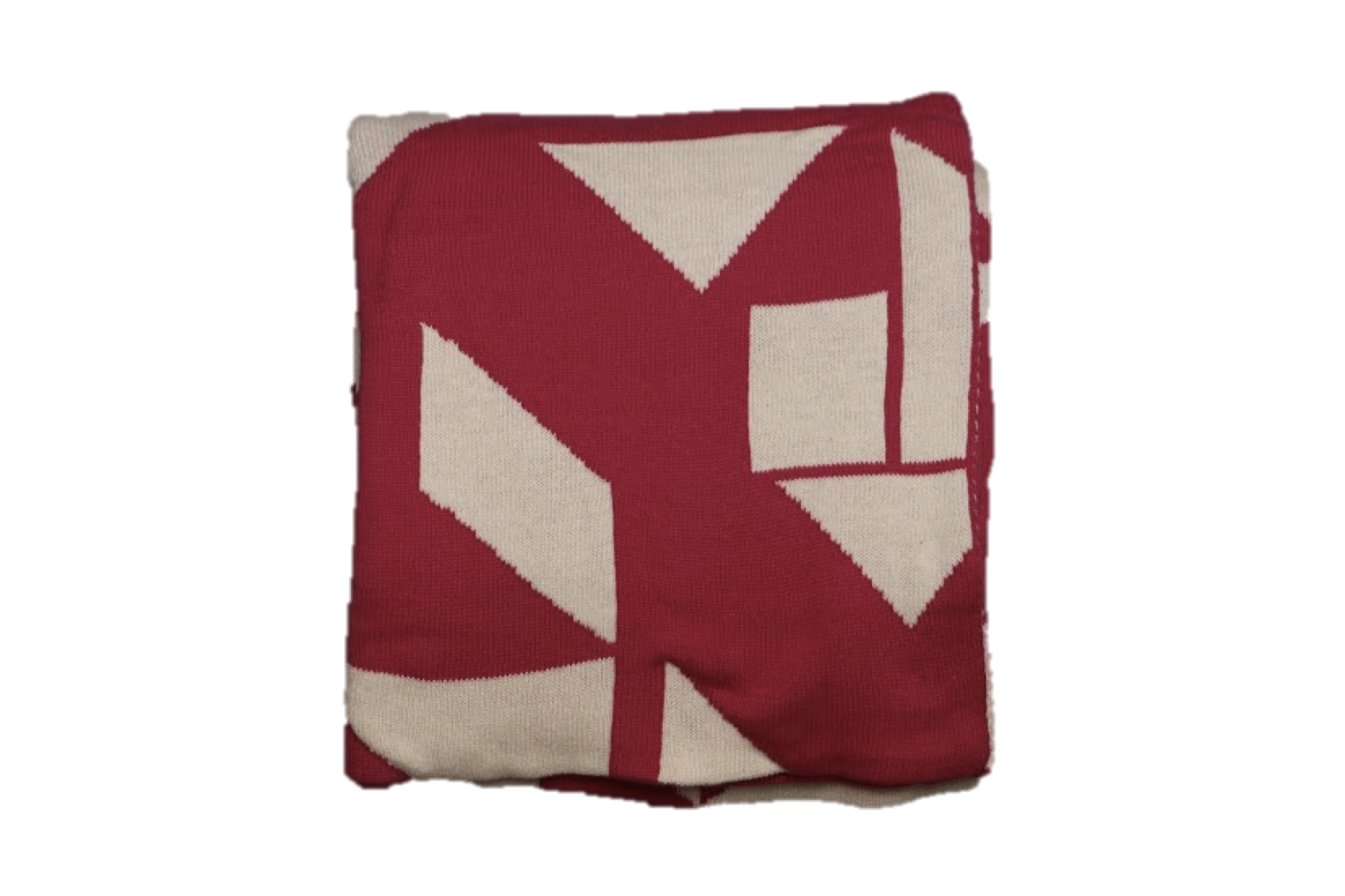 Transparent blanket red cotton. Decoration day woven throw