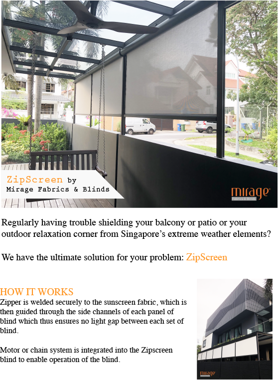Transparent blinds balcony. Zipscreen wordpress promo article