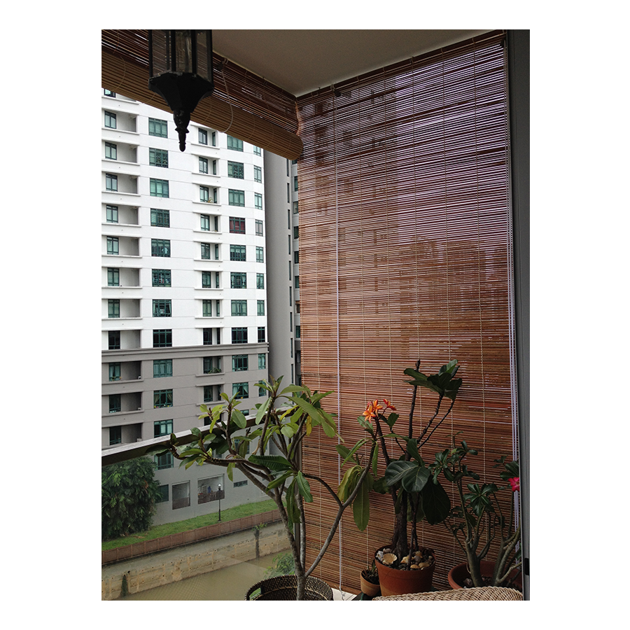 Transparent blinds balcony. Singapore the curtain boutique