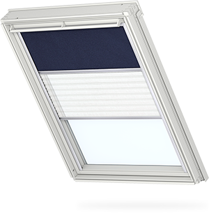Transparent blinds blackout. Velux duo blind with