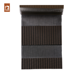 Transparent blinds brown zebra. Fabric suppliers and manufacturers