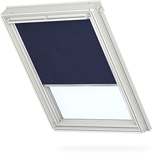 Transparent blinds blackout. Velux and shutters for