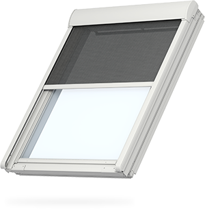 Transparent blinds opaque. Velux blackout get total