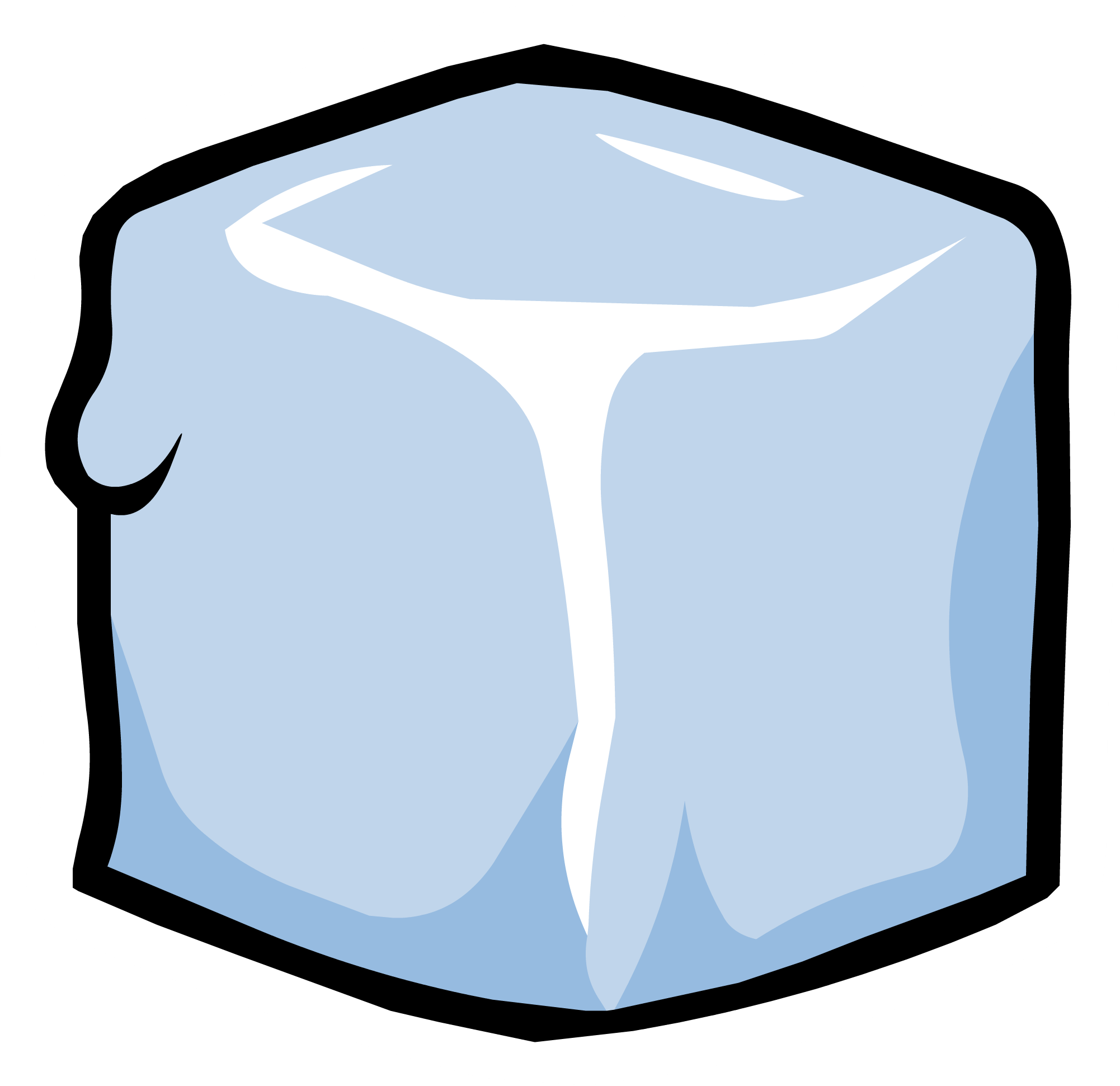 Transparent block ice. Pin club penguin wiki