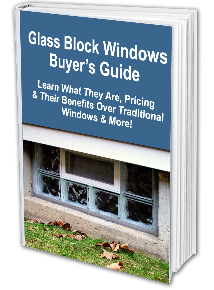 Transparent block window. Different glass styles wyoming