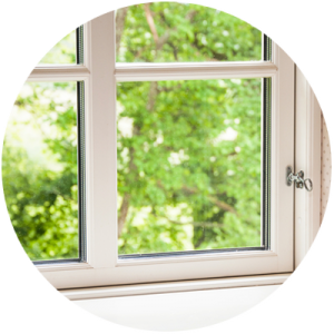 Transparent block window. Home page repairs and