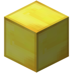 Transparent blocks gold. Block of official minecraft