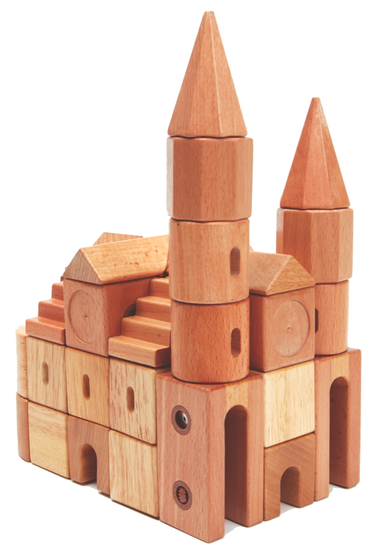 Transparent blocks small. Edtoy magnetic wooden block