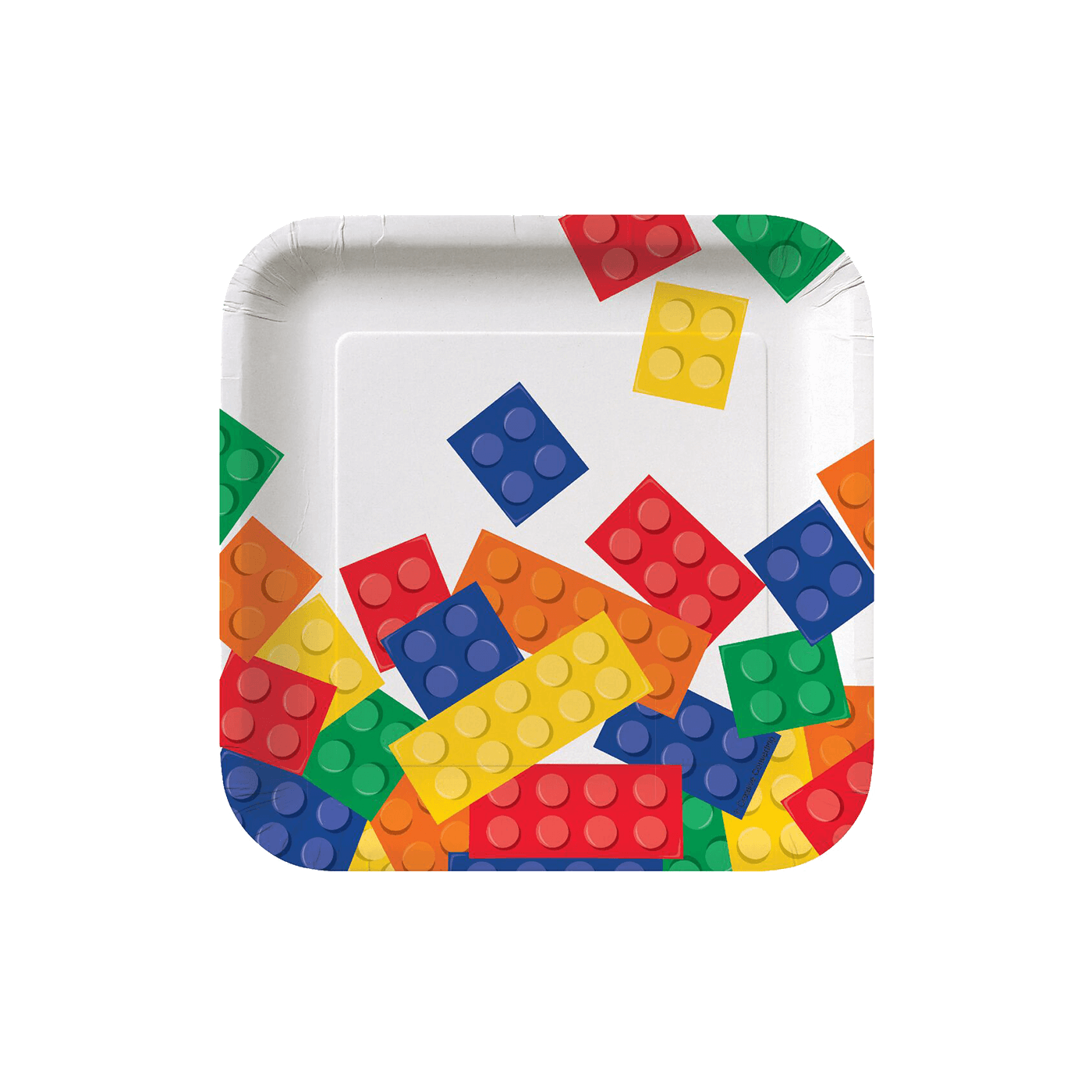 Transparent blocks small. Party paper plates tether
