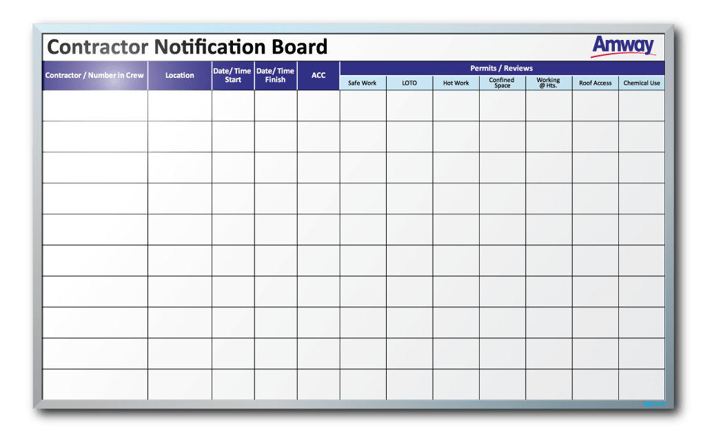 Transparent boards erase board. Amway contractor notification dry