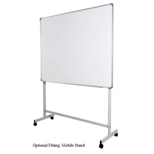 Transparent boards mobile glass. Adjustable stand for only