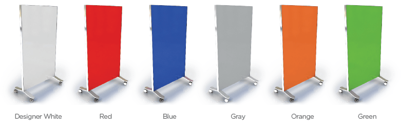 Transparent boards mobile glass. Portable whiteboards come rollable