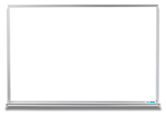 Transparent boards whiteboard. Magnetic aluminum frame with