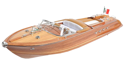 Transparent boats background. Wooden cruise boat image