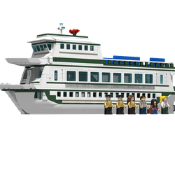 Transparent boats ferry. Lego ideas product state