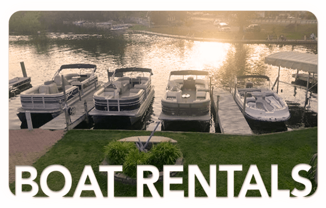 Transparent boats lake. Spring marina boat rental