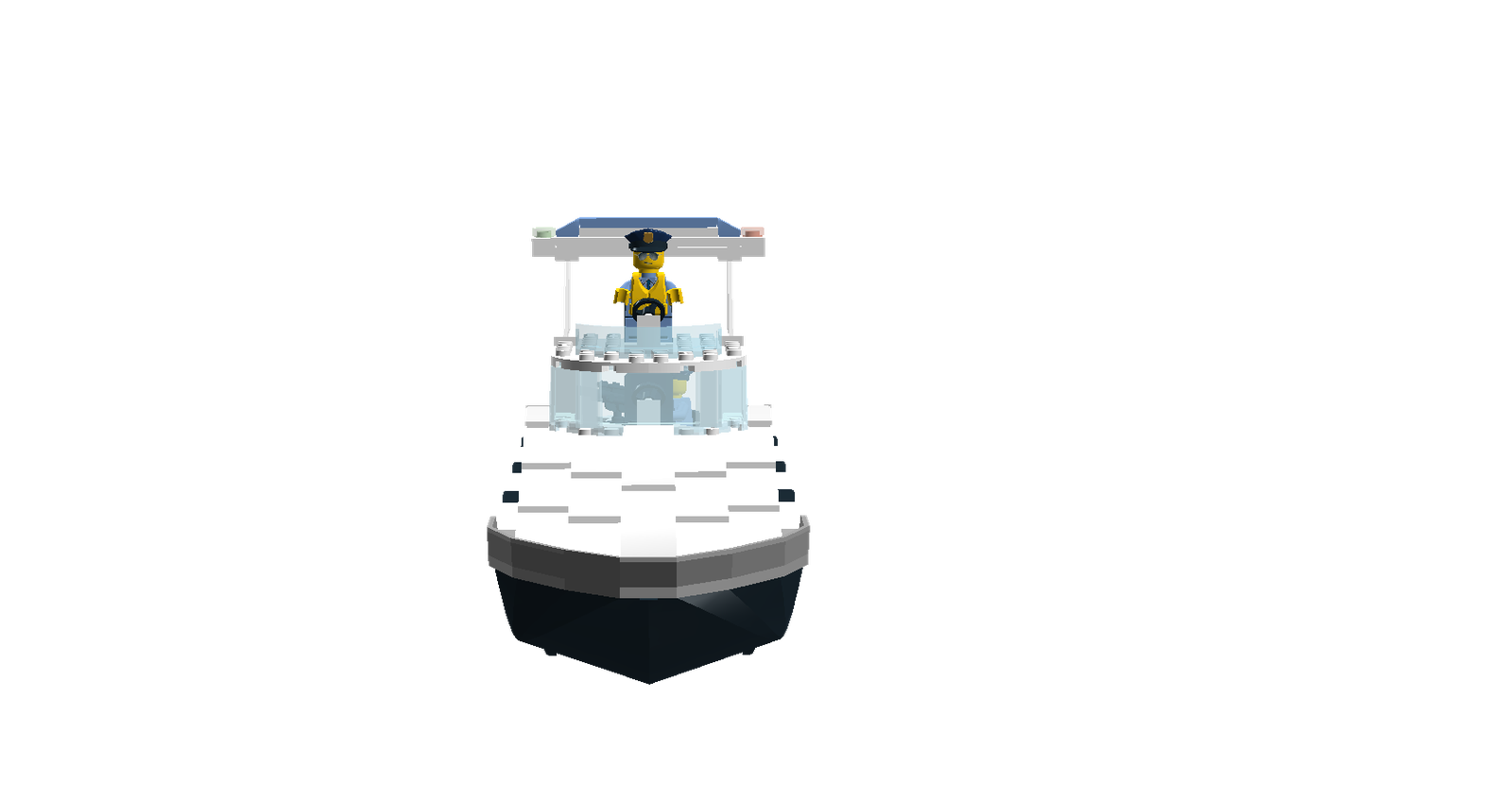 Transparent boats police. Lego ideas product boat