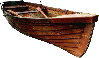 Transparent boats wooden. Rowing boat no background