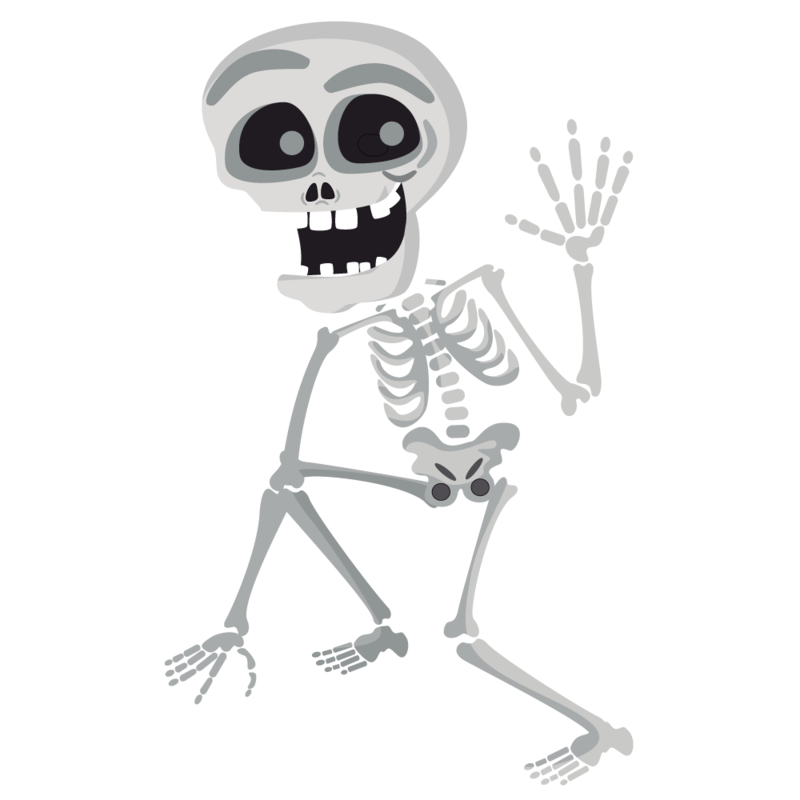 Transparent bone cartoon. Download free png skeleton