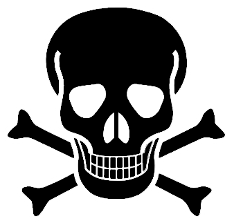 Crossbones emoji the pirate. Skull and bones png graphic freeuse library