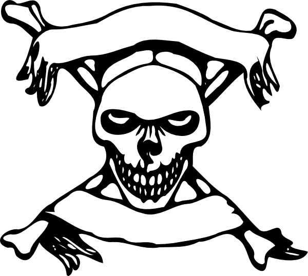 And crossbone clipart xbones. Transparent bones pirate skull picture library library