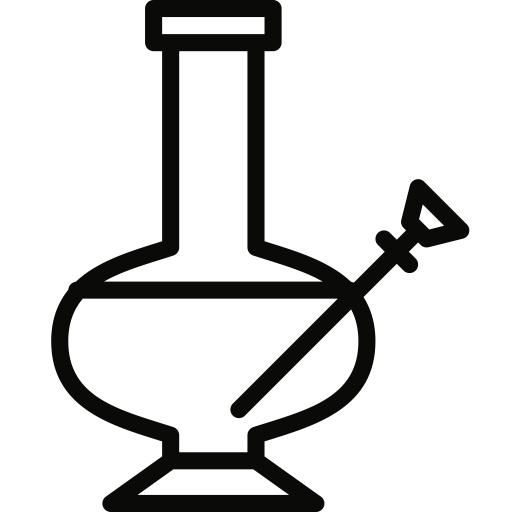 Transparent bong svg. Pipe icon size