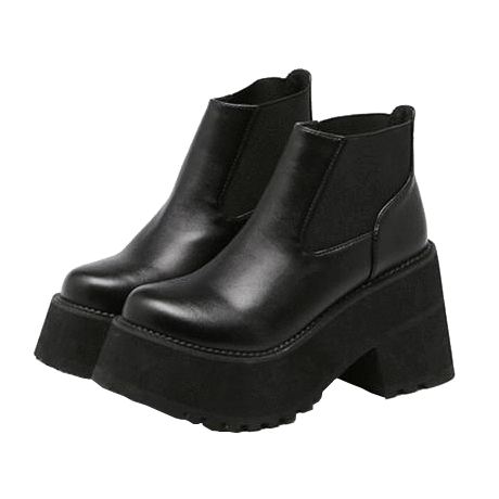 Transparent boot aesthetic. Itgirl shop leather black