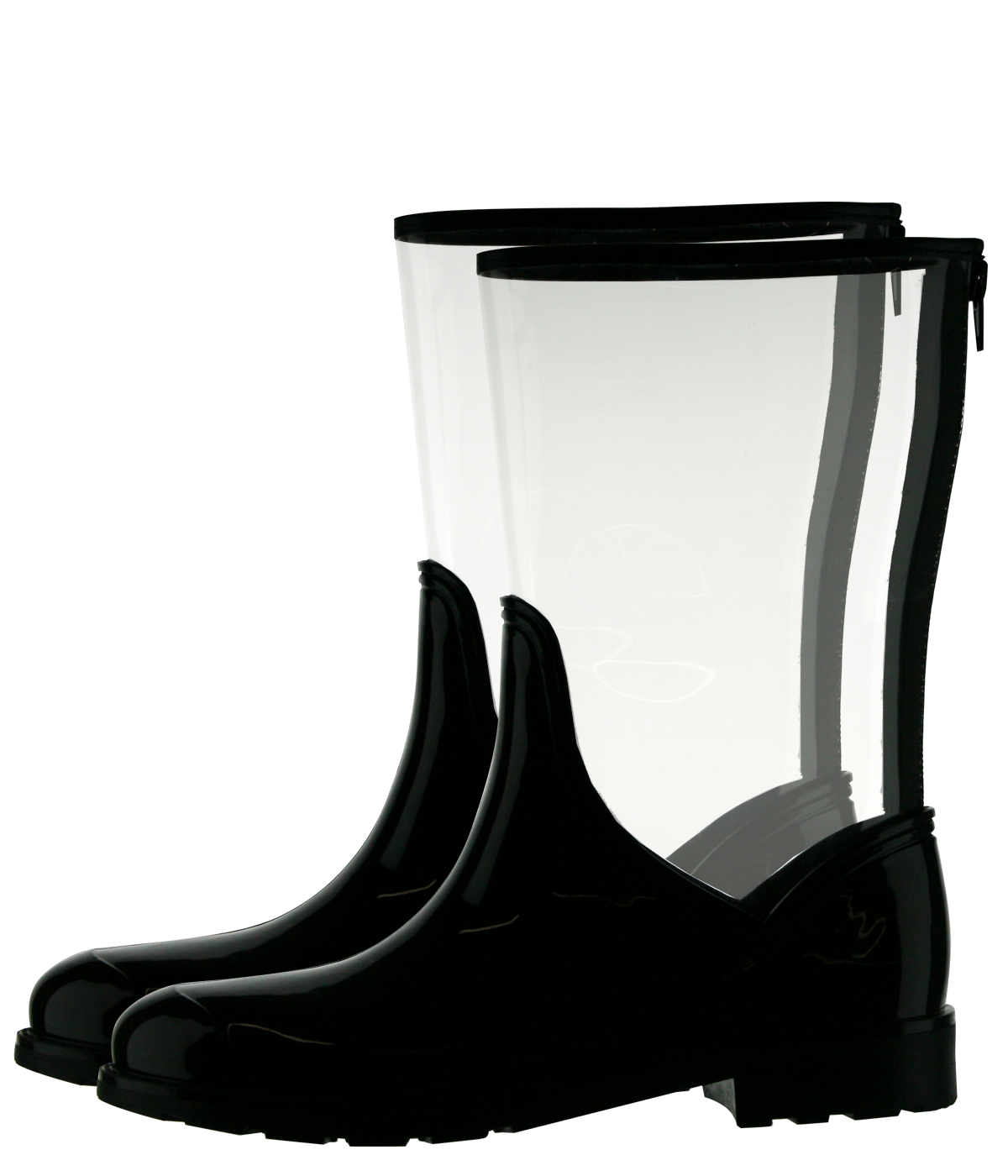 Transparent boot jelly. Clear rain boots