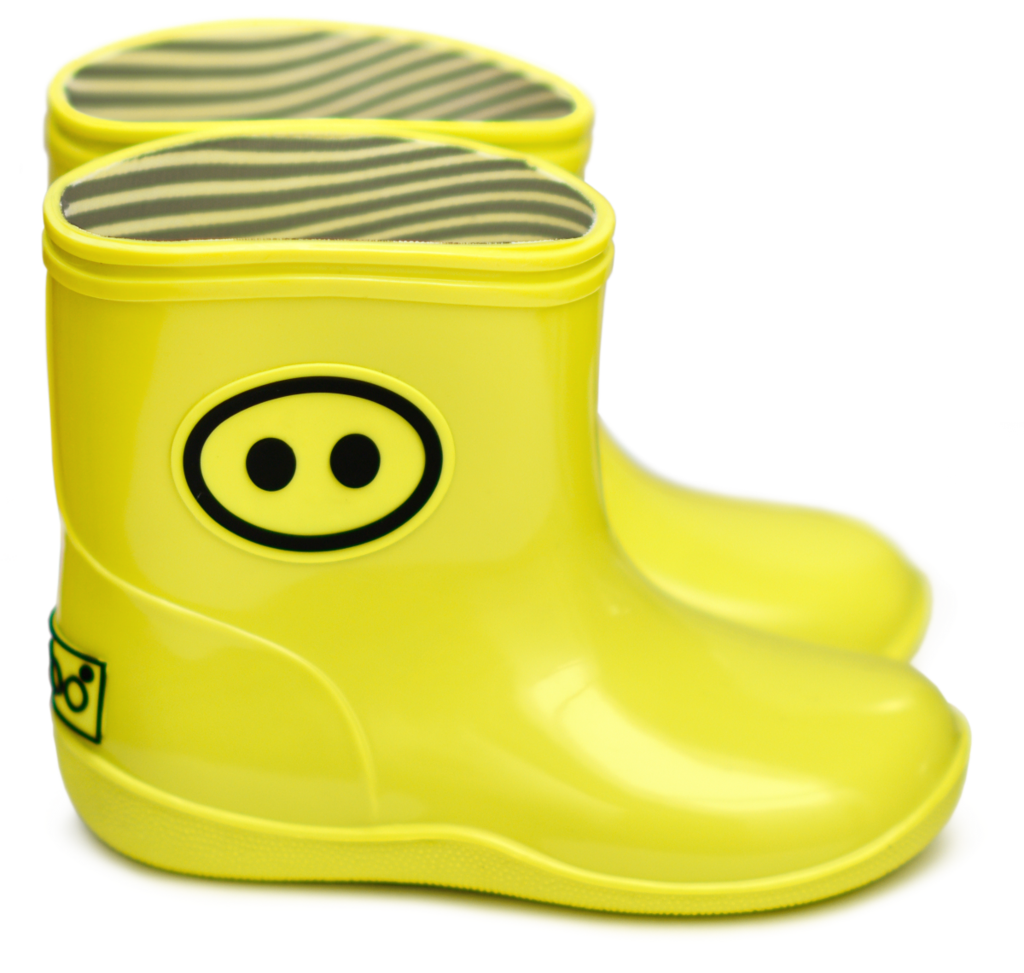 Transparent boot cute rain. Boxbo yellow kawai rubber