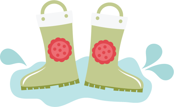 Transparent boot cute rain. Boots svg files for