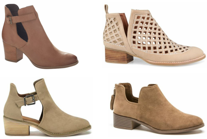Transparent boot jeffrey campbell. Tan ankle boots styling