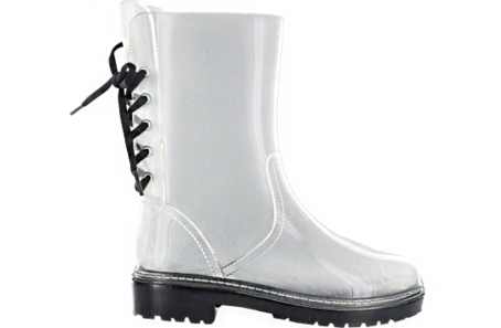 Transparent boot jelly. Clear black docs on