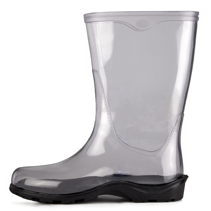 Transparent boot jelly. Rain boots clear fashion