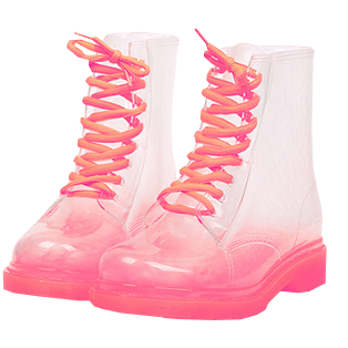 Transparent boot jelly. Clear boots on the