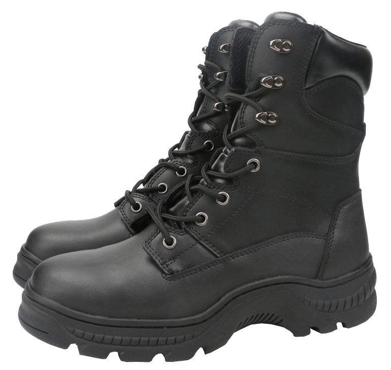 Transparent boot knight. Wholesale black workman s