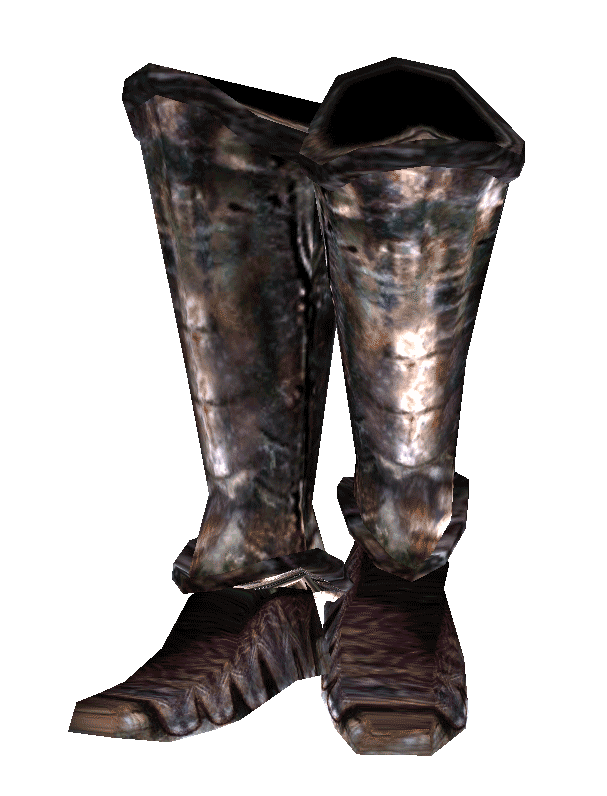 Transparent boot knight. Iron boots morrowind elder